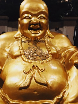 Please do not rub the Buddha